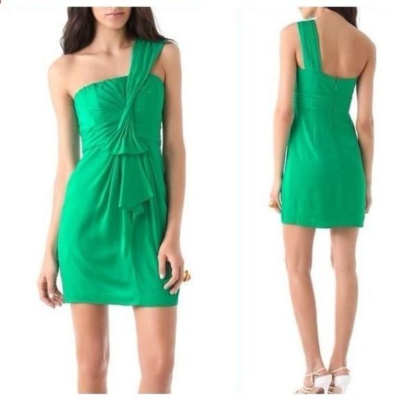 da9f2fd4bca BCBGMaxAzria Dresses | Connie Emerald Cocktail Dress | Poshmark